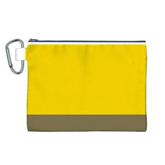 Trolley Yellow Brown Tropical Canvas Cosmetic Bag (L)