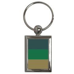 Blue Green Brown Key Chains (Rectangle)