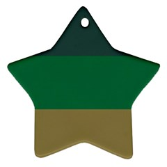 Blue Green Brown Star Ornament (Two Sides)