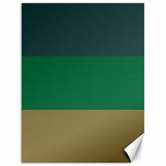 Blue Green Brown Canvas 18  x 24
