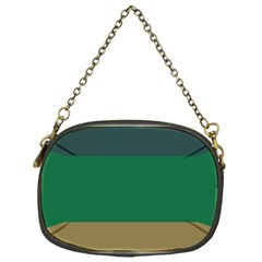 Blue Green Brown Chain Purses (One Side)