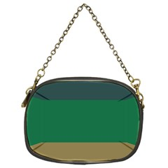 Blue Green Brown Chain Purses (Two Sides)