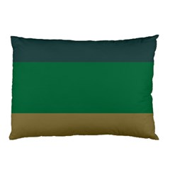 Blue Green Brown Pillow Case