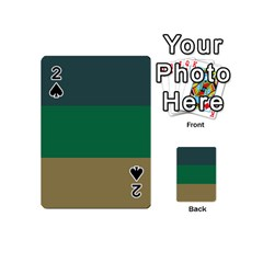 Blue Green Brown Playing Cards 54 (Mini)