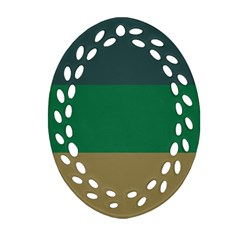 Blue Green Brown Ornament (Oval Filigree)