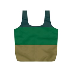 Blue Green Brown Full Print Recycle Bags (S)