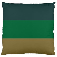 Blue Green Brown Standard Flano Cushion Case (one Side)