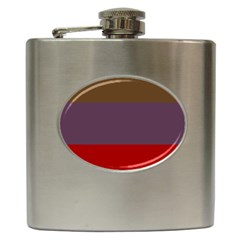Brown Purple Red Hip Flask (6 oz)