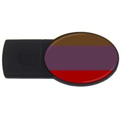 Brown Purple Red USB Flash Drive Oval (1 GB)