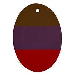 Brown Purple Red Oval Ornament (Two Sides)