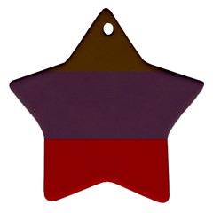 Brown Purple Red Star Ornament (Two Sides)