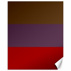 Brown Purple Red Canvas 11  x 14