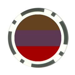 Brown Purple Red Poker Chip Card Guard