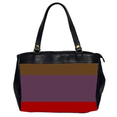 Brown Purple Red Office Handbags (2 Sides)
