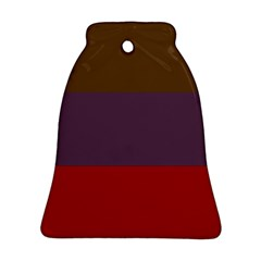 Brown Purple Red Bell Ornament (Two Sides)