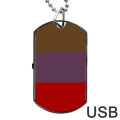 Brown Purple Red Dog Tag USB Flash (One Side)