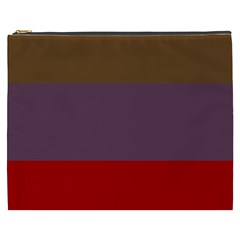 Brown Purple Red Cosmetic Bag (XXXL)