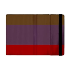 Brown Purple Red Apple iPad Mini Flip Case