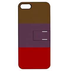 Brown Purple Red Apple iPhone 5 Hardshell Case with Stand