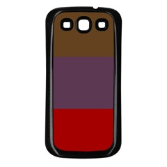 Brown Purple Red Samsung Galaxy S3 Back Case (black)