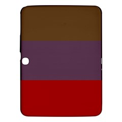 Brown Purple Red Samsung Galaxy Tab 3 (10.1 ) P5200 Hardshell Case