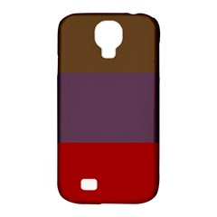Brown Purple Red Samsung Galaxy S4 Classic Hardshell Case (PC+Silicone)