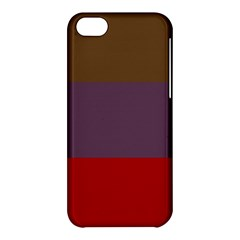 Brown Purple Red Apple iPhone 5C Hardshell Case
