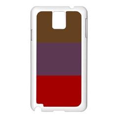 Brown Purple Red Samsung Galaxy Note 3 N9005 Case (White)