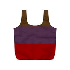 Brown Purple Red Full Print Recycle Bags (s)