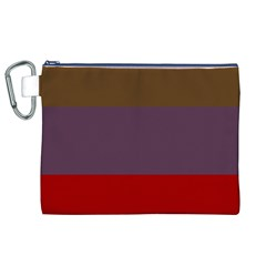 Brown Purple Red Canvas Cosmetic Bag (XL)