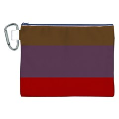 Brown Purple Red Canvas Cosmetic Bag (XXL)