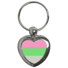Grey Green Pink Key Chains (Heart)