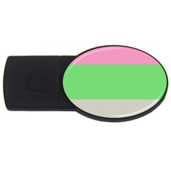 Grey Green Pink USB Flash Drive Oval (2 GB)