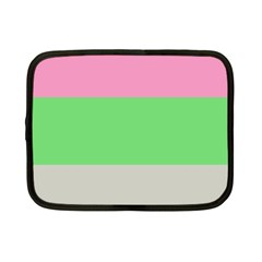 Grey Green Pink Netbook Case (Small)
