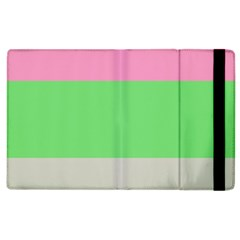 Grey Green Pink Apple iPad 3/4 Flip Case