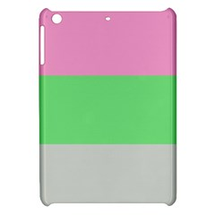 Grey Green Pink Apple Ipad Mini Hardshell Case