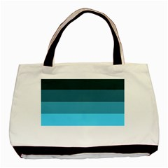 Line Color Black Green Blue White Basic Tote Bag