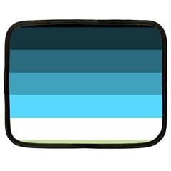 Line Color Black Green Blue White Netbook Case (Large)