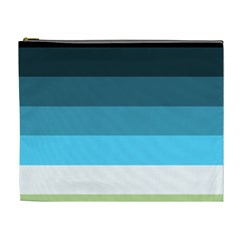 Line Color Black Green Blue White Cosmetic Bag (XL)