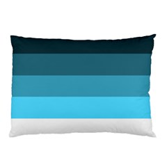 Line Color Black Green Blue White Pillow Case (Two Sides)