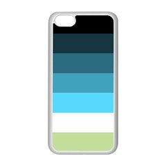 Line Color Black Green Blue White Apple iPhone 5C Seamless Case (White)