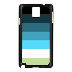 Line Color Black Green Blue White Samsung Galaxy Note 3 N9005 Case (Black)