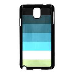 Line Color Black Green Blue White Samsung Galaxy Note 3 Neo Hardshell Case (Black)