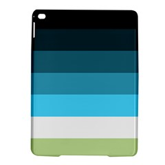 Line Color Black Green Blue White iPad Air 2 Hardshell Cases