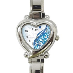 Delicate Tree Leaf Heart Italian Charm Watch