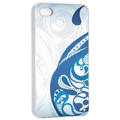 Delicate Tree Leaf Apple iPhone 4/4s Seamless Case (White)