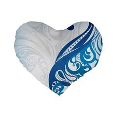Delicate Tree Leaf Standard 16  Premium Heart Shape Cushions