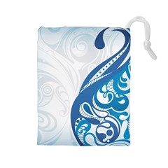 Delicate Tree Leaf Drawstring Pouches (Large)