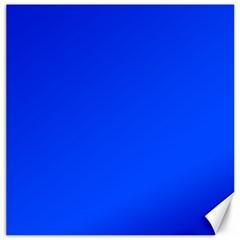 Plain Blue Canvas 20  x 20