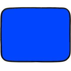 Plain Blue Double Sided Fleece Blanket (Mini)
